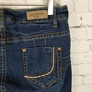 RICHCOW | dark wash slim leg jeans